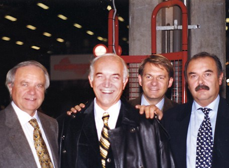 Left to right: Gianni Ferrari, Franco Maletti, Giorgio Ferrari and Claudio Ferrari.