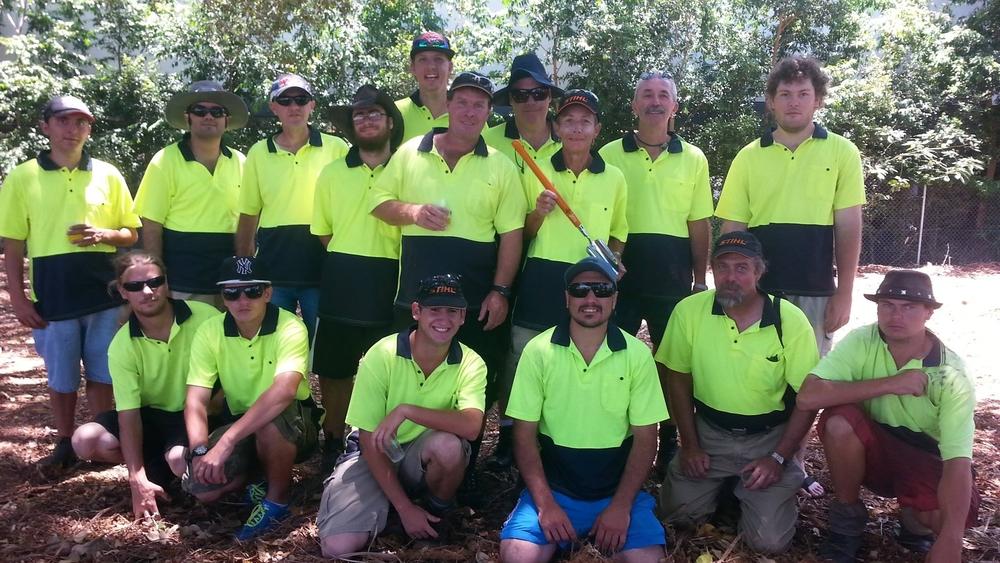 Jen Stuart with the Abilities Plus Permaculture Team.